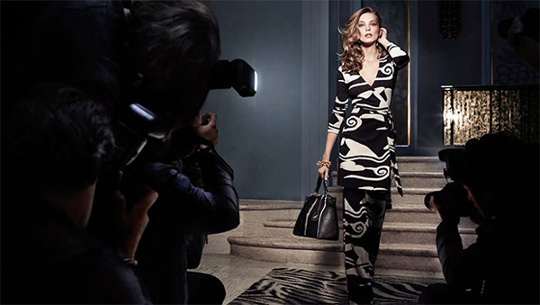 Daria-Werbowy-for-DVF-Fall-2014-Collection